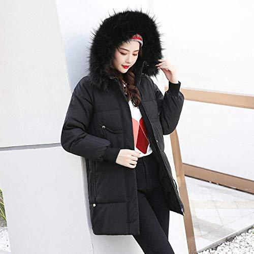 WAY Coats Frauen S Winter-Koreanische Version Von Mittlerer Länge Loser Art Und Weise Baumwolljacke Und Dickere Jacket Women Winterjacke,Schwarz,Xxl