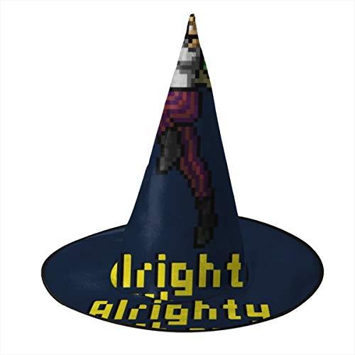 OJIPASD Ace Ventura Alrighty Then Pixellated Sombrero de Bruja Halloween Unisex Disfraz para da Festivo Halloween Navidad Carnaval Fiesta