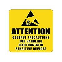 警告サイン - 注意。静電気感応装置を手で持つ際の注意を守る 産業安全標識 屋内および屋外の警告標識 12 x 12 インチの金属製ブリキ看板 LMH06