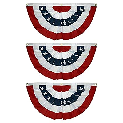 Amazon - Save 70%: American Pleated Fan Flag USA American Bunting Decoration Print Patriotic…