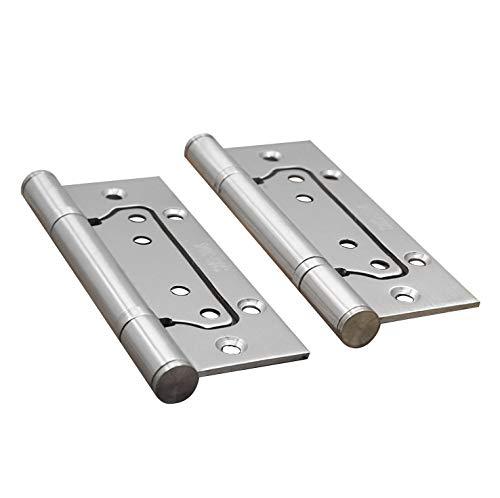 E EBETA 4x Edelstahl Tür-Scharnier Scharniere Türband Türscharnier Edelstahlscharniere Beschlag, Dicke 2,5 mm Silber