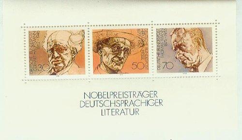 Nobelpreisträger deutschsprachiger Literatur - postfrisch 30/50/70 Pf./Pfennige [Briefmarken, Gerhart Hauptmann, Hermann Hesse, Thomas Mann]
