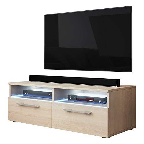 Support TV Silver (sonoma matt avec LED)