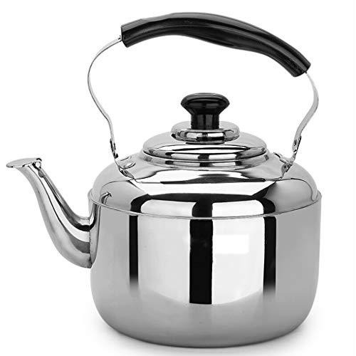 304 acier inoxydable bouilloire gaz domestique grande capacité 5-6 litres siffleur bouilloire cuisinière à gaz universel UOMUN (Size : 6L)
