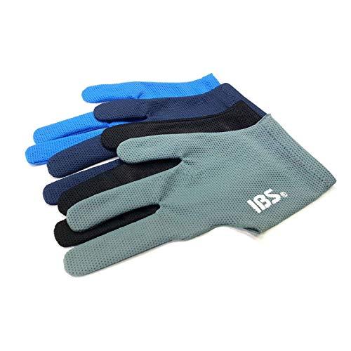 IBS Three Fingers Billard-Handschuhe, Snooker-Queue, professionell, 4 Farben (Mesh)