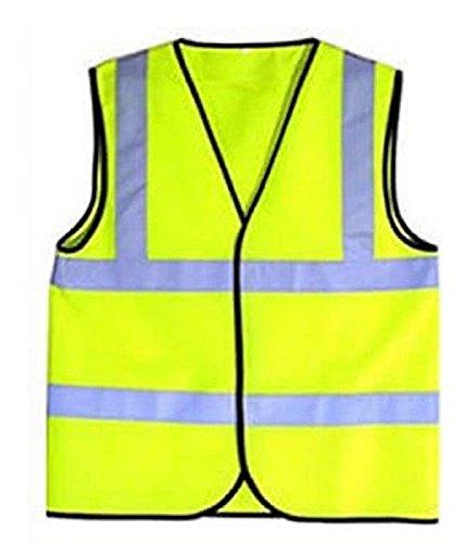 Niño de alta visibilidad amarillo chaleco reflectante para deportes Top, amarillo