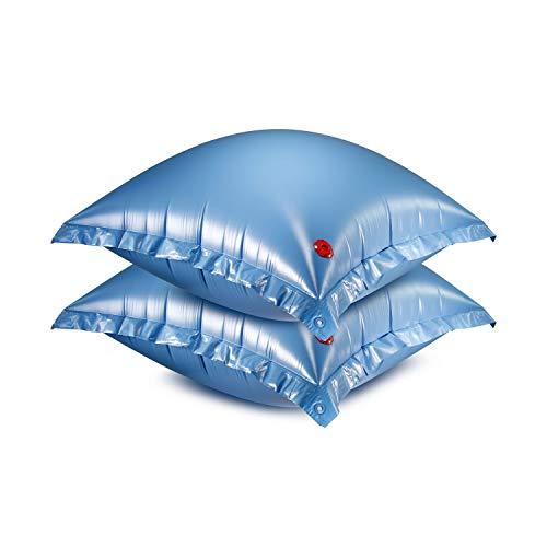 Luftkissen für Winterabdeckplanen 2er Set Pool Luftpolster Kissen Winterplane Abdeckplane Plane Eisdruckpolster Winterschutz