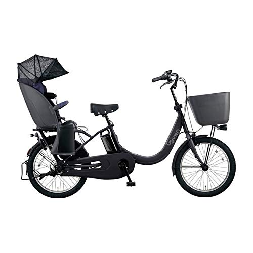 PANASONIC ギュット・クルームR・DX 電動アシスト自転車 (20インチ・内装3段変速) BE-ELRD03-B マットチャコールブラック