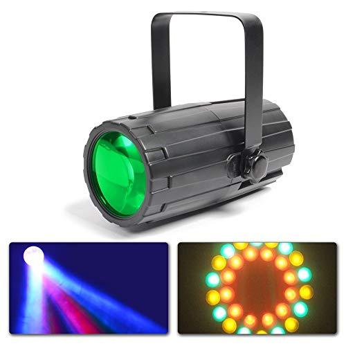 Beamz Moon Flower LED Scheinwerfer Lichteffekt LED Strahler (20W, 60 LEDs RGBAW, Musiksteuerung, Wand - Decken- und Stativmontage) schwarz