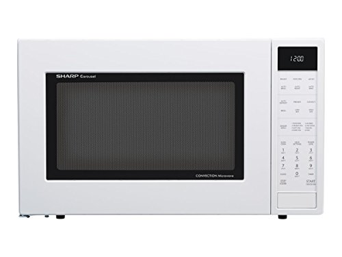 Sharp SMC1585BW 1.5 cu. ft. Microwave Oven with Convection Cooking, Auto Defrost in White