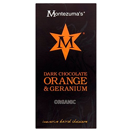 Montezumas Organic Dark Chocolate with Geranium and Orange, 100g