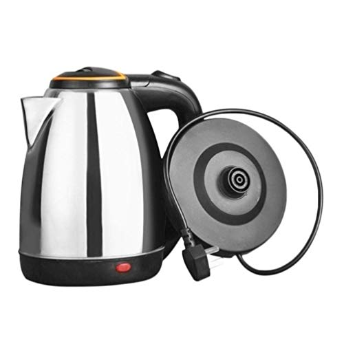 2L Stainless Steel Electric kettle Hot Water Boiler & Tea Heater Hot Water Kettle Water Boiler for Pour Over Coffee and Tea, with Fast Boiling Feature and Thermometer Gauge on Top