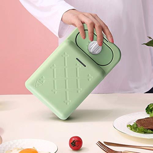 SLFPOASM Mini Tostadora De La Tostada De La Comida Ligera De La Galleta Multifuncional del Hogar De La Máquina del Desayuno del Sándwich Green