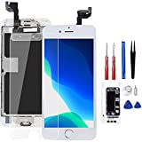 for iPhone 6S Screen Replacement White, Drscreen LCD Touch Digitizer Complete Display for A1633, A1688, A1700,with Proximity Sensor Ear Speaker Front Camera Screen Protector + Repair Tool