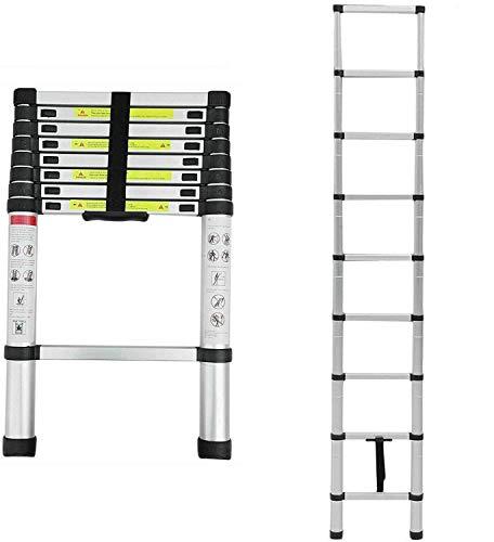 Mult-Purpose Telescopic Folding Ladder 2.6m/3.2m/3.8m/5m Aluminium...