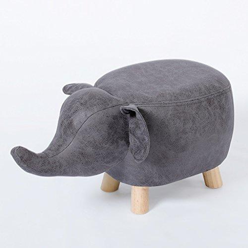 Yxsd Bonito banco de zapatos para el hogar, zapatos creativos, taburete pequeño, taburete de madera maciza para sofá, taburete (color: gris)
