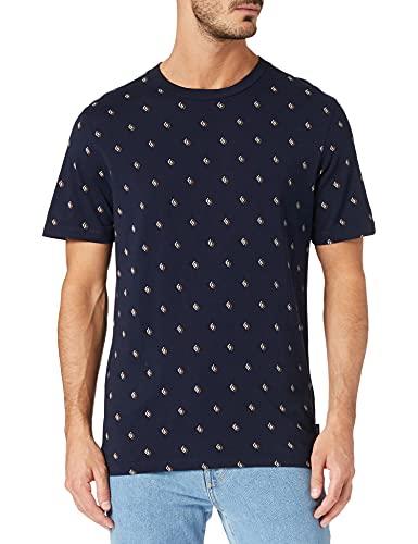 Scotch & Soda Herren Bio-Baumwolle mit Print T-Shirt, Combo B 0218, L