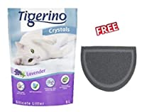 Super Pack: 6 x 5 litre Fresh lavender scent Stops odors in seconds Extremely absorbent - light and efficient Simple, dust-free use Anti-bacterial - seals germs in the core Compostable and eco-friendly FREE Cat Litter Tray Mat Grey XXL