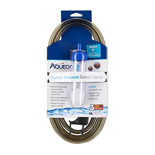 Aqueon Aquarium Siphon Vacuum Gravel Cleaner Medium - 5 Inches