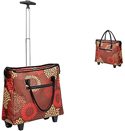 KAKTT Carrello Multifunzione Portatile Carrello della Spesa Carrello Carrello Carrello Portatile Carrello per Uso Domestico Borsa da Viaggio Cuscinetto di Circa 20 kg