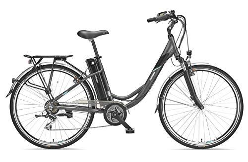 Telefunken E-Bike Elektrofahrrad Alu 28 Zoll mit 7-Gang Shimano Nexus Nabenschaltung, Pedelec Citybike leicht mit Fahrradkorb, Mittelmotor 250W 10,4 Ah, 36V Sitzrohrakku, RC767 Multitalent