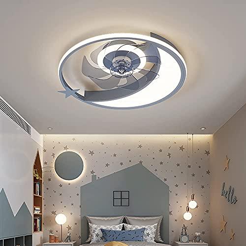 LED Ventilador Techo con Luz,Regulable Y Velocidad del Viento con Control Remoto Silencioso Plafon Ventilador Lampara,Habitacion Cocina Dormitorio Sala De Estar Plafones Mando (Gris)