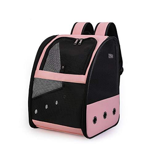 xingxing Transporttasche für Vögel, Papageien, atmungsaktiv, Reisekäfig, Rucksack für Haustiere, Schultertasche (Farbe: Rosa)
