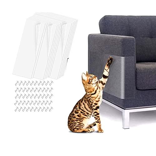 Katzenbandmöbel Beschützer, 15 stücke Klare Haustier Katze Hundeklaue Guards Selbstklebende Pads, Katze Kratzer Abschreckung Trainingsband Pet Couch Protector, für Sofa, Wand, Matratze