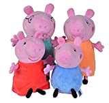 Simba Peluches familia Peppa Pig en caja coch, color 1. (109261006)