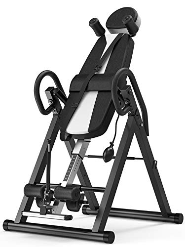 Buy Discount LFFCCGravity Heavy Duty Inversion Table,Adjustable Ratchet Ankle Locking System,Lower B...
