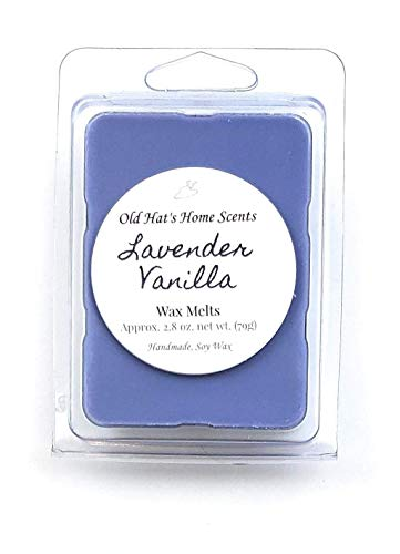 Lavender Vanilla Scented Soy Wax Melts. 1 Pack (6 Cubes)