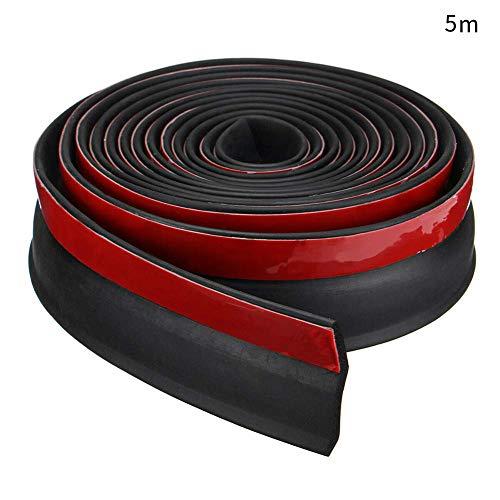 xiegons0 Universal Garagentor Schwelle Dichtung Tür Entwurf Blocker Unten Dichtung für Stopper Wetter Streifen Geräusche Schallgedämmte - Schwarz + Rot, 5m