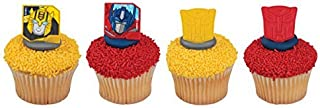 Transformers Autobot Protectors Cupcake Rings - 24 pc