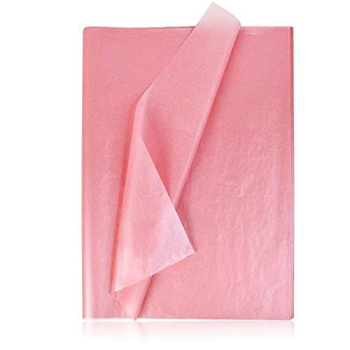 100 Hojas de Papel para Regalo,Papel de seda Decorativo, Mezclar Papel de seda,Papel de seda Creativo,Papel Para Envolver Regalos Embalaje DIY Manualidades para Navidad Bodas Cumpleaños (Oro rosa)