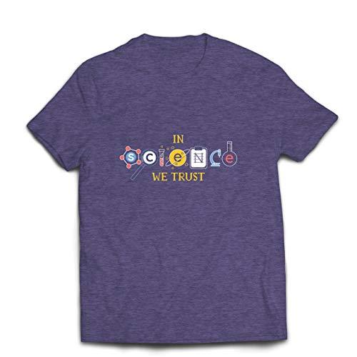 lepni.me Camisetas Hombre En Ciencia Confiamos, Equipo de Graduación, Citas de Maestros (Small Cuero Gris Multicolor)