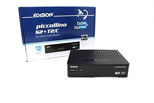 Freetv Combo S2 + T2 / C Full HD Receptor satelital Gratuito al Aire, PVR a través de USB, Reproductor de Video / música a través de USB, Recibir Estaciones de Freesat en el Reino Unido,12 voltios
