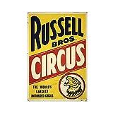 Russell Bros Zirkus Vintage Zirkus Leinwand Poster