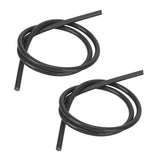 Cable de encendido de silicona Accesorio de encendido confiable de 2 piezas para automóvil(black)