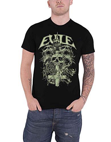 Evile T Shirt Riddick Skull Band Logo Nue offiziell Herren