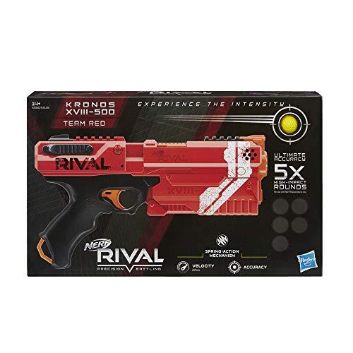 Nerf Kronos rosso XVIII-500 e palline in schiuma Rival ufficiali, Colore, E3380FC4