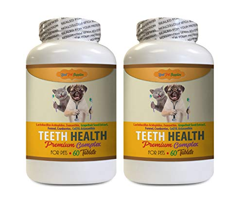 Oral Hygiene for Cats - Best Pets Teeth Health Formula - Premium for Dogs and Cats Complex - Full Oral Care - cat Vitamin b Supplement - 120 Tablets (2 Bottles)