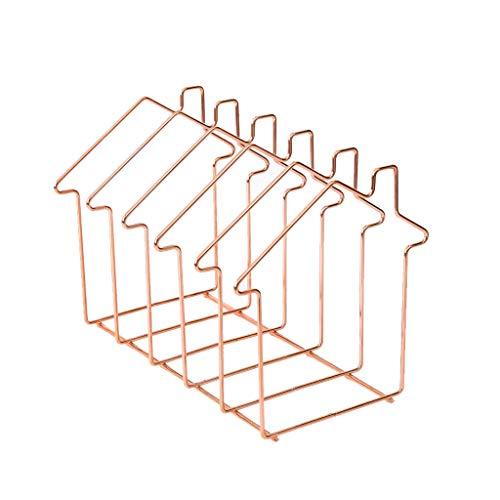 Juonjee Metall Zeitungsständer Buchständer Nordic Simple Buchständer Simple Art (Color : Pink)