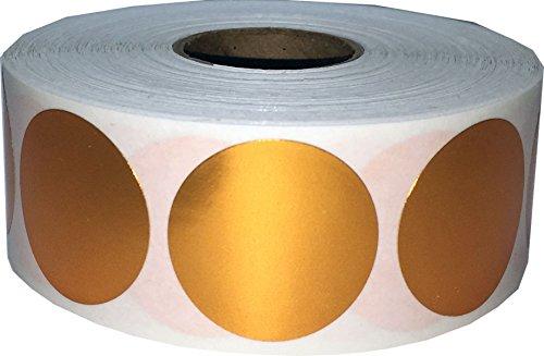 Bronce Metálico Pegatinas Circulares, 25 mm 1 Pulgadas Etiquetas de Puntos Brillantes 500 Paquete