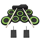 Roll up Silicon Electric Drums Digital Electronic Drum Pad Kit with Drum Sticks