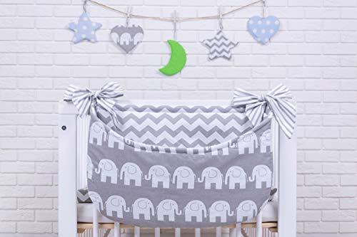 Amilian® Betttasche Spielzeugtasche Design21 Babybetttasche Windelntasche Spielzeughalter für Kinderbett NEU