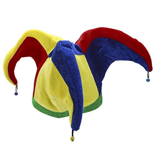 LIOOBO 1 Stück Multicolor 3 Spitze Schöne Lustige Karneval Hut Spaßvogel Hut Clown Hut für Party Spaßvogel Kostüm Festival Feier Parade Karneval Dress up Zubehör