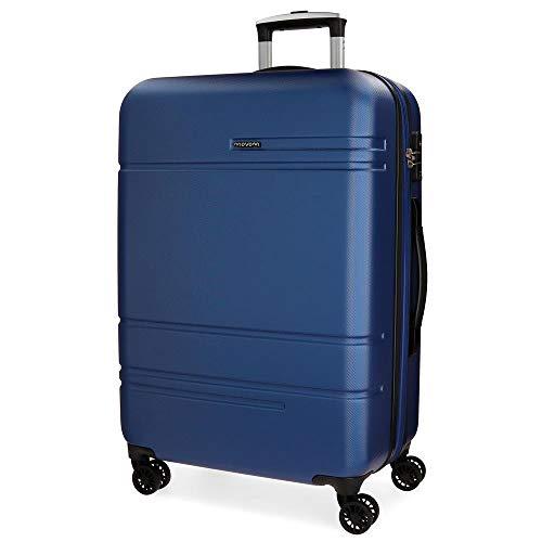 Movom Galaxy Maleta mediana Azul 49x69x27 cms Rígida ABS Cierre TSA 72L 3,8Kgs 4 Ruedas Dobles Extensible