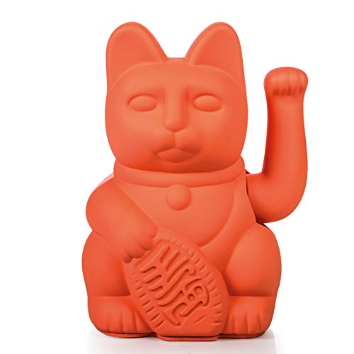 Donkey Products - Lucky Cat Neon - Pinke Winkekatze | Japanische Deko-Katze in stylischem Neon-Farbton 15cm hoch
