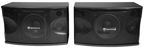 Rockville Pair 8' 3-Way 800 Watt Karaoke/Pro Speakers+Wall Brackets/MDF (KPS80)