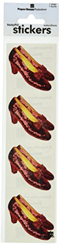 Paper House Productions ST-2019E Photo Real Stickypix Stickers, 2-Inch by 4-Inch, Ruby Slippers (6-Pack)